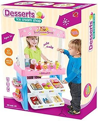 ZUJI 47pcs Supermercado Grande Caja Registradora Carrito Compra Supermarket Mercado Juego de imitación: Amazon.es: Juguetes y juegos