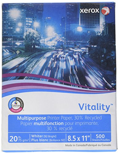 Xerox Multi-Purpose White Papers,Business Recycled, 20 Lb (75G/M2), 30% Post Con -  3R06296