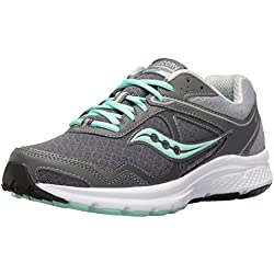Saucony Women's Cohesion 10 Running Shoe, Grey/Mint, 7.5 M US