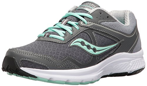 Saucony Women's Cohesion 10 Running Shoe, Grey/Mint, 9 M US