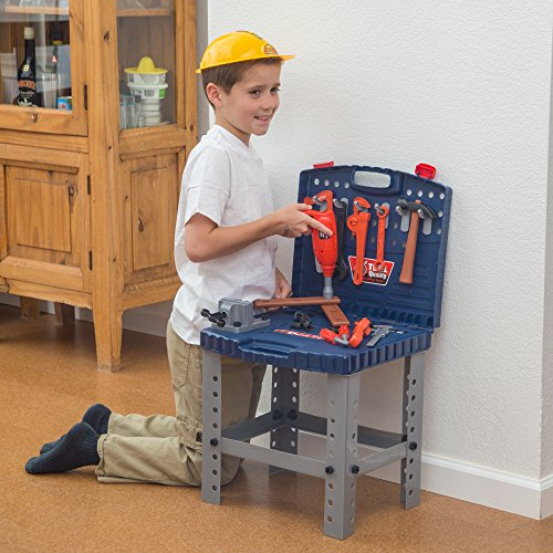 68 Piece Workbench W Realistic Tools & ELECTRIC DRILL for ...