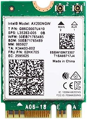 M.2 Wi-Fi 6 11AX WiFi Module 2 x 2 MU-Mimo Scheda Wireless Dual Band con Adattatore Wi-Fi Interno Bluetooth 5.0 Supporto Windows 10 64 Bit WISE TIGER Autentica Scheda Wireless Intel AX200NGW NGFF