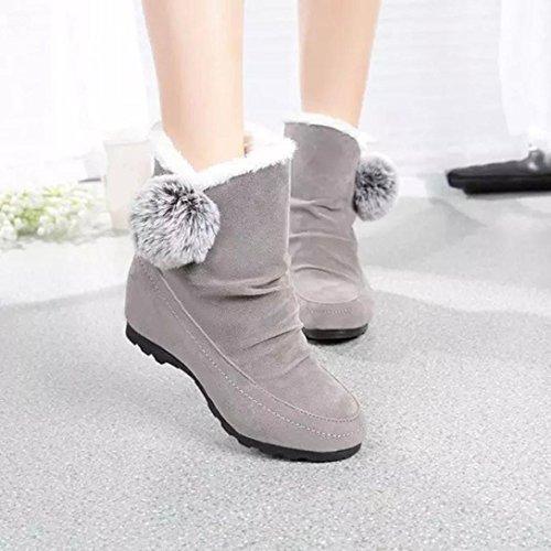 Zapatos interiores, Amlaiworld Zapatos de tacón cálido Zapatos de tacón Gris