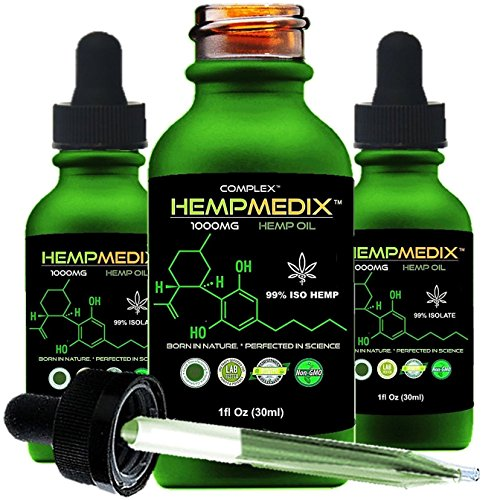 HempMedix Hemp Oil-Cannabis Sativa Oil 1,000mg Pure High Potency Full Spectrum Therapeutic Grade