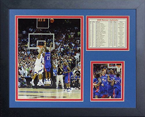 Legends Never Die 2008 Kansas Jayhawks The Shot Collage Photo Frame, 11