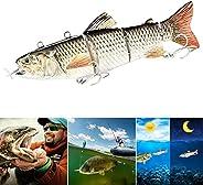 Alexsix Electric Fishing Lure, Wobblers 4-Segement Swimbait USB Rechargeable Artificial Multi Jointed Segment