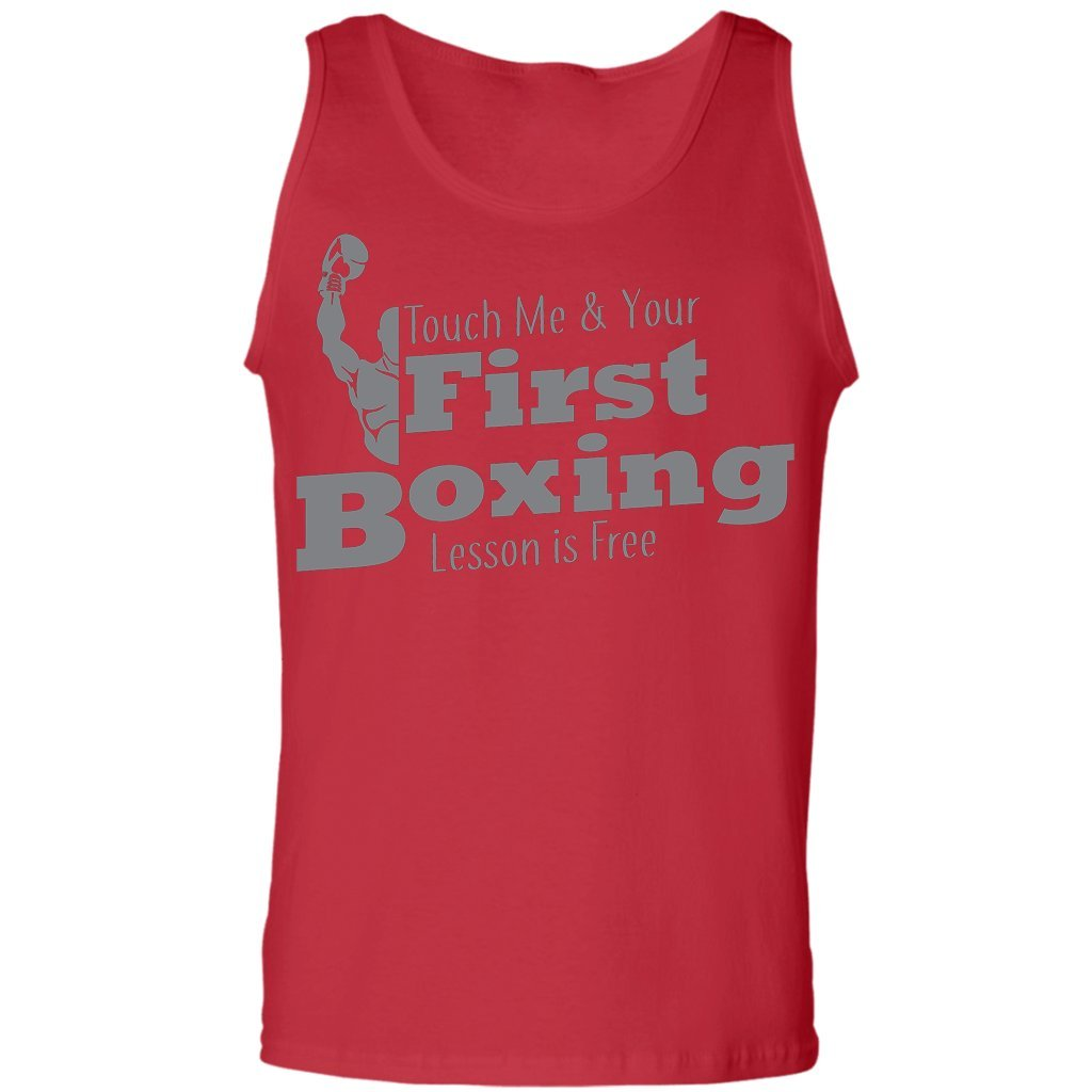 Boxing Boxing Boxer Lover Tank Top Touch Me and Your First Lesson is Free