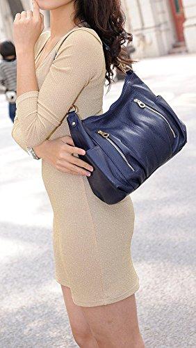 Handle Purse Bag Hereby satchel Body Handbag Top Ladies�� R Navy Shoulder Blue Kuer Soft Tote Cross 8qxrqYnFOS