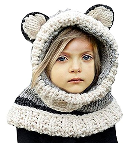 knitted scarf with hood - 3