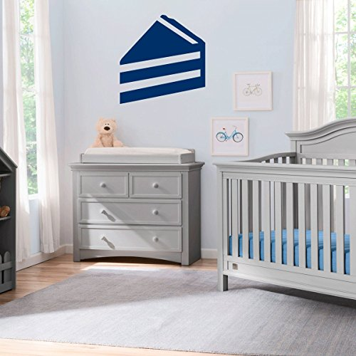 (2x) Nursery Series Cake Slice Sticker for Cribs, Walls, Dressers, and More! (Navy)