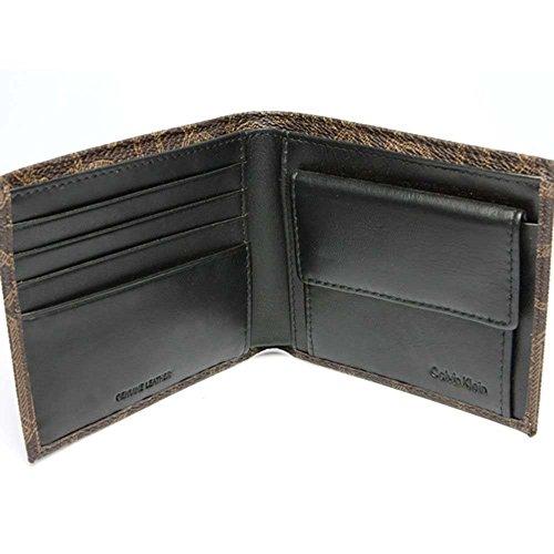Calvin Klein Ck Men's Classic Leather Coin Case Id Wallet