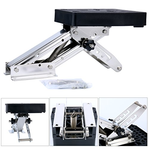 YaeMarine Outboard Motor Bracket Kicker for Boat, up to 25hp Auxilary Trolling Mount ()