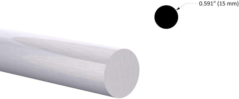 "2/"" Aluminum Round Bar Rod 60/"" long 6061-T6 Mill Finish"