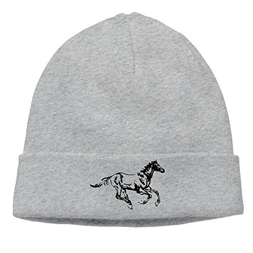Unisex Horse Cuff Winter Knit Hat Skull Hat Skull Cap Beanie ()