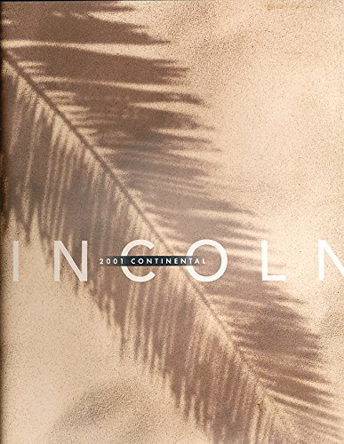 2001 Lincoln Continental Deluxe Sales Brochure Book