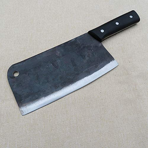 Meat Cleaver Heavy Duty - Stainless Steel Chopper Knife with Solid Wood Handle, for Home & Restaurant Use-Manual Forging by LI CAI DAO (Image #2)