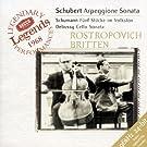 Schubert: Sonata for Arpeggione (bowed guitar) & Piano, d.821 / Schumann: 5 Pieces in the Popular Style (Volkston), Op. 102 / Debussy: Cello Sonata