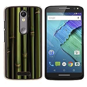 EJOOY---Cubierta de la caja de protección para la piel dura ** Motorola Moto X3 3rd Generation ** --Bambú verde Papel de pared Panda Foof