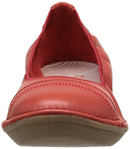 Rojo Cuero Bailarinas Rouge Shayla Tbs Mujer pavot De twX8qF