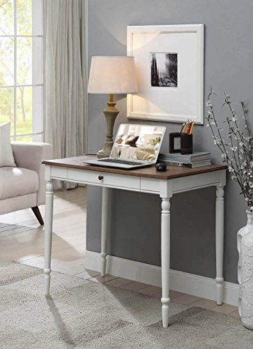 Convenience Concepts 6042195DFTW French Country Desk, Driftwood/White