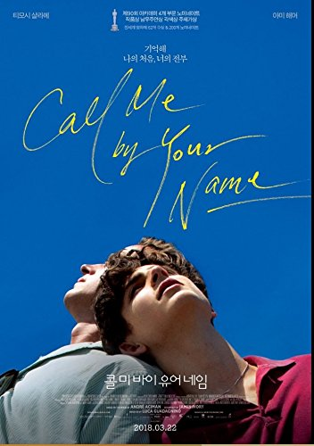 Call Me by Your Name OSCARS 2018 Korean Mini Movie Posters Movie Flyers A4 Size ()