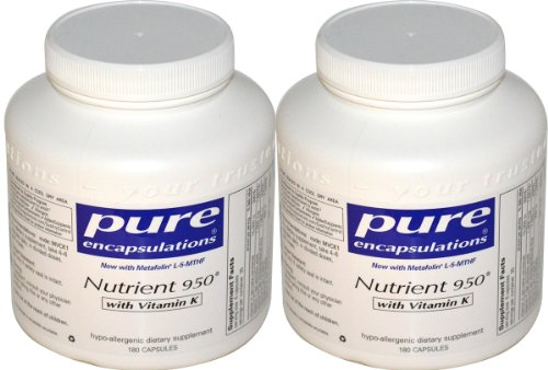 Чистая инкапсуляции питательных веществ 950 с витамином К - 180 capsules- 2 шт