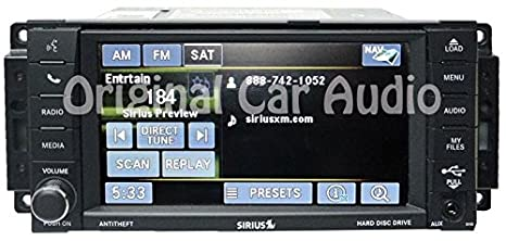 amazon com: chrysler dodge jeep mygig navigation radio gps dvd sirius 30gb  430n rhb uconnect: gps & navigation
