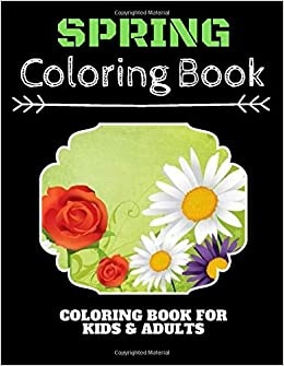 Spring Coloring Book: Funny Spring Gardening Scenes, Relaxing