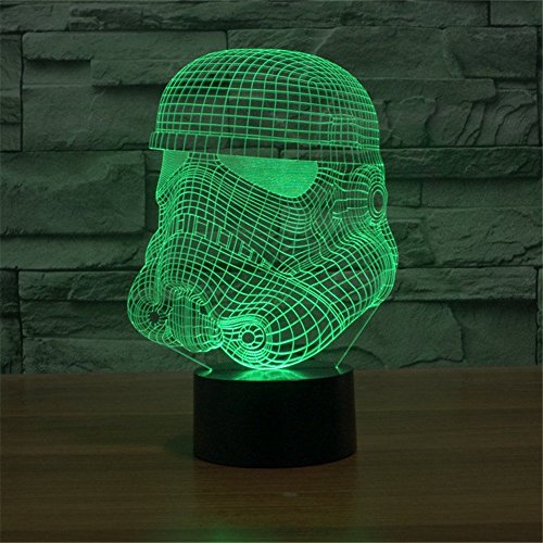 Huiyuan Lamp 3d Led for Desk Table Star War Clone Troopers Night Light 7 Color Change Lighting Lamps Gift Household Home Decoration Accessories
