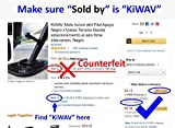 KiWAV Motorcycle kickstand pad support black x1