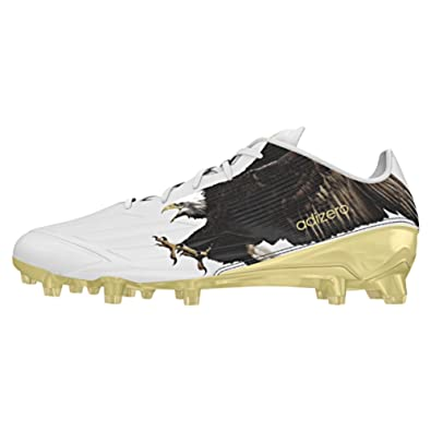 new product 15415 425cb adidas Adizero 5-Star 5.0 Uncaged Mens Football Cleat 15 Eagle White Gold