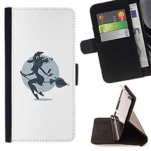 BullDog Case - FOR/LG Nexus 5 D820 D821 / - / Hot Pin Up Witch /- Monedero de cuero de la PU Llevar cubierta de la caja con el ID Credit Card Slots Flip funda de cuer