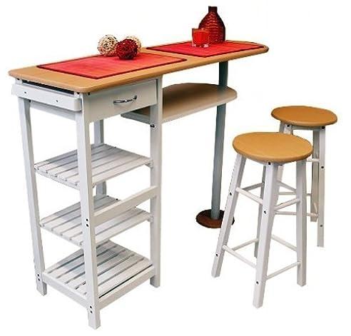 Küchenbar Mit 2 Stühlen Frühstückstheke Küchentisch Küchenmöbel