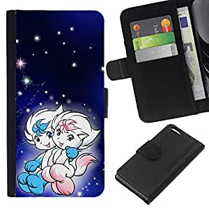 All Phone Most Case / Oferta Especial Cáscara Funda de cuero Monedero Cubierta de proteccion Caso / Wallet Case for Apple Iphone 5C // Cute Fantasy Couple
