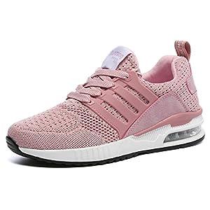 TQGOLD Uomo Donna Scarpe da Ginnastica Running Sportive Interior all Aperto  Tennis Fitness Basse Sneakers a1cc3d2e24d