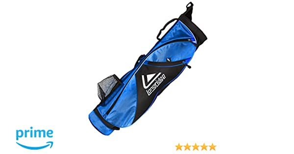 LONGRIDGE – X-Lite lápiz Bolsa de Golf, Color Negro, 12,7 cm