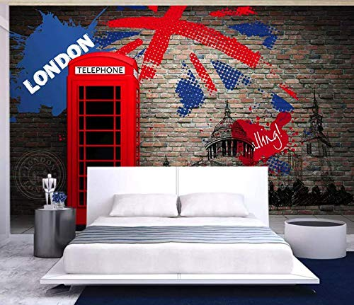 Amazon com: Murwall Flag Wallpaper Phone Booth Wall Mural