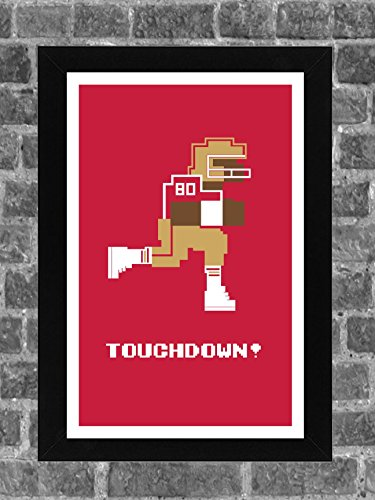 Jerry Bowl (San Francisco 49ers Jerry Rice Tecmo Bowl Sports Print Art 11x17)