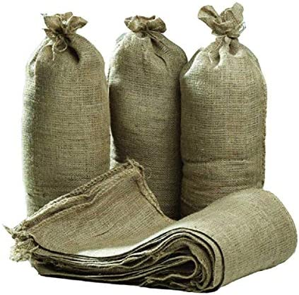 Hessian Sand Bags with Ring Ties 750x325mm Flood Prevention Sack Qty Discounts