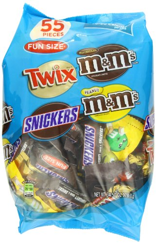 MARS Chocolate Fun Size Candy Bars Variety Mix 34.5 Ounce 55-Piece Bag