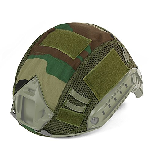 - DETECH Tactical Military Combat Fast Helmet Camouflage Cover for MH/PJ Type Fast Helmet Airsoft Paintball Hunting Shooting Gear