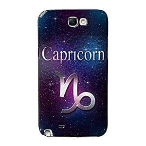 Capricornio Full Wrap–Funda con tapa para Samsung Galaxy Note 2Impreso en 3d de alta calidad de textguy + Protector de pantalla transparente GRATIS