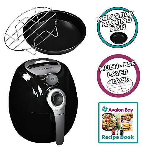 Avalon Bay AirFryer with Rapid Air Circulation Technology, Large 3.2L