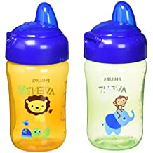 Philips AVENT My Sip N Click 2 Piece Cup, Green/Orange