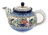 Polish Pottery Hummingbird Large Teapot