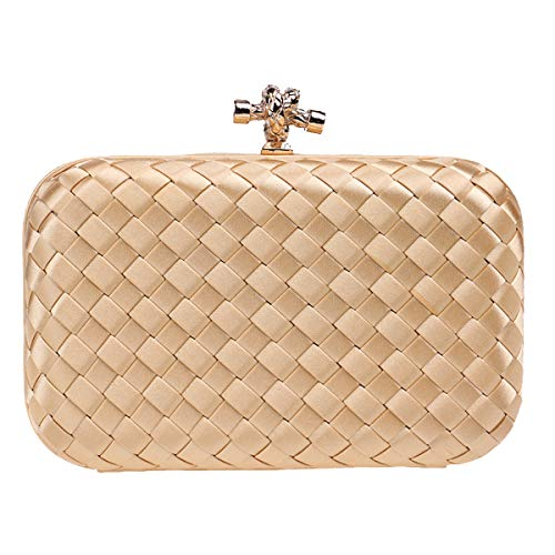 (Unlimited energy Handbags Wedding Clutch Purse Evening Dinner Bags for Women Gold)