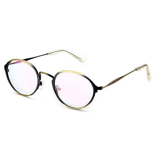 b0fa3f9c686 PenSee Optical Vintage Designed Metal Eye Glasses Round Circle Oval Eyewear  Frames (Brushed bronze