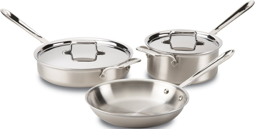 Stainless Steel All-Clad Unisex D5 Brushed 5-Piece Set