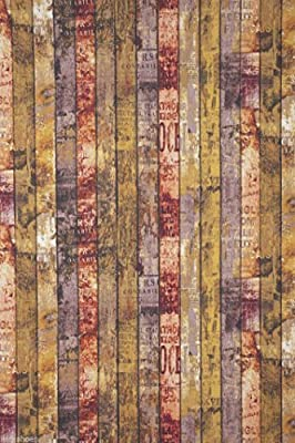 WOODEN FENCE FLOORBOARDS Decorative Upholstery Cotton Fabric Material 140cm wide (Sold By The Metre) by HomeBuy