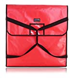 New Star Foodservice 50400 Insulated Pizza Delivery Bag, 24'' by 24'' by 5'', Red